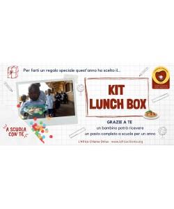 """Kit Lunch box """"a Scuola con Te"""" per garantire un pasto a scuola ad 1 bambino per 1 anno"""